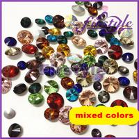 20%OFF!Free shipping! MIXED COLORS ! Crystal Rivoli beads,sizes option:8mm,10mm,10.7mm,12mm,14mm,16mm,18mm Rivoli Crystal