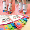 Free Shipping CHEAPEST Five fingers cartoon toe socks women&#39;s stockings anti-barbiers socks novelty socks promotion gift