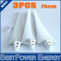 3pcs/lot, 85cm Wind Turbine Blade, 800W 1000W Wind Generator Blades, Black White Two Colors