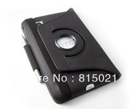1pc free shipping Black pu leather cover case for H-T-C- Flyer with 360 degree rotary function