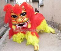 Lion Dance Mascot Costume Northern Style FRP Head Long Fur Event Ceremony Celebration Party Outfit Fancy Dress Drop Shipment