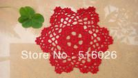 wholesale hand made Crochet cup mat,100% cotton Ecru Doily ,cup pad,coaster ,place mat 20CMX20CM 20PCS/LOT SIZE BIG
