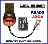 20 USB card readers memory stick micro sd TF reads 2gb 4gb 8gb 16gb 32gb key holder wholesale LOT