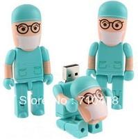 CC76 Wholesale Full Capacity Cartoon Cute Doctors Nurse Models 4GB 8GB USB 2.0 Flash Driver Memory stick Drive Car/Thumb/pen