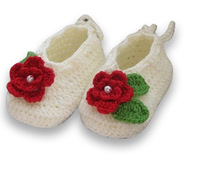 Free shipping Wholesale Pretty Hand Crochet  Baby shoes - for infant and first warlker - Toddle shoes - 50 pairs / lot