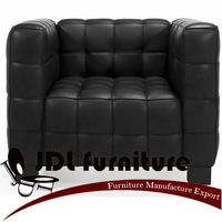 Josef Hofmann Kubus sofa,full Italian leather +Chinese top grain leather sofa,classic furniture.JDL Furniture