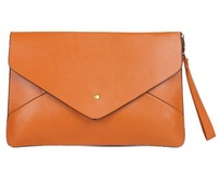 Stocked 2013 Hot Sale Korea Stylev Ladies' PU Leather Fashion Envelope bag,,shoulder bag, promation for christmas!