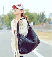Fashion lady's women's handbag 2012 large capacity bags fashion shoulder bag black bag