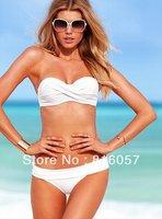 victoria bikini swimwear steel push up,white,good quality