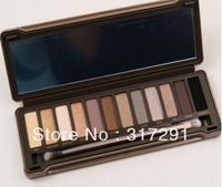 free shipping 2012 hot sell UD 2 12 color eyeshadow (2pcs )