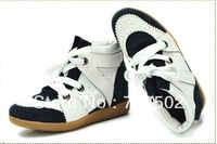 Free Shipping! 2012 Sale Isabel Marant Sneakers Women Wedge Height Increased Top Quality Hot Genuine Leather Casual color match
