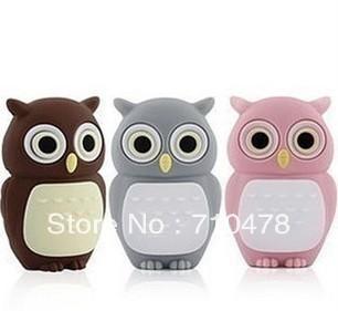 CC67 Wholesale Hot Full Capacity Cartoon Cute Owl Model 4GB 8GB USB 2.0 Flash Pen Drive Memory stick Car/Thumb/pen Free Shipping