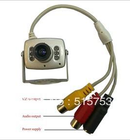 Free shipping 6 LED IR Wired CCTV Night Video Audio Security Camera(China (Mainland))