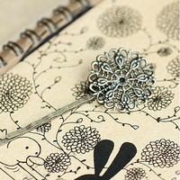 Free Shipping 100pcs Antique Bronze Bobby Pins Hair Clips W /Glue Pad 25mm