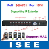 HD Full D1 Full 960H 16CH H.264 Real Time Standalone CCTV DVR With HDMI, Support IR Extender, MAC OS Free Shipping