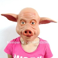 Creepy Cute Pig Head Mask Head For Cosplay and Costome