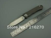 Chris Reeve Sebenza 21 D2 blade folding knife titanium alloy handle pocket knife 60HRC hardness gift knife FREE SHIPPING