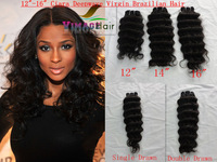 brazilian virgin human hair 12inch 14inch 16inch 3pcs    deep wave free shipping no shedding and tangle free