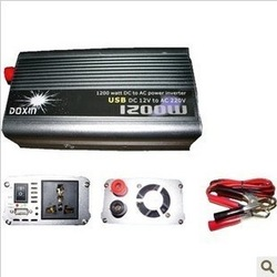 1200W 1200 WATT Modified Sine Wave Car 12V DC In 220V AC Out USB Power Inverter(China (Mainland))