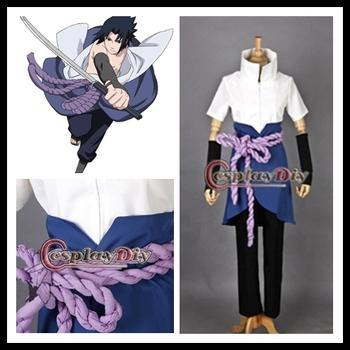 Freeshipping Naruto cosplay Instock cheap Good quality  Shippuden Sasuke Uchiha 3rd Cosplay Costume
