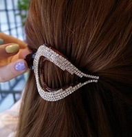 (Our min Order is USD15 ,Can mix order)Free Shipping New Arriving Top Quality Fashion Lady Rhinestone Barrette Hair Clip