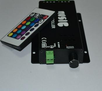 White/black Color IR RGB music controller DC 12V
