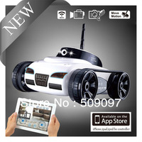 New Free Shipping! Rover App-Controlled Wireless wifi 4Ch i-Spy Tank With Camera for iPhone, iPod Touch and iPad/RC Toy Car