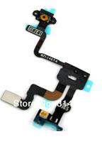 100% Top Quality Guarantee for iPhone 4S GSM Proximity Light Sensor Power Button Flex Cable by AM DHL EMS(5PCS/Lot)