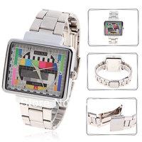 Unique Japan Movt Numerals Indicate Time Steel Quartz Wrist Watch 58833 (Silver)