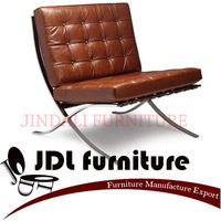 Ludwig Mies van der Rohe Barcelona Chair, genuine leather.Classic furniture,high quality sofa