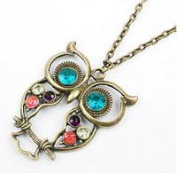 fashion cutout vintage owl necklace accessories,Pendant. wholesales,mix MOQ USD $5,