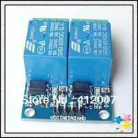 Free  Shipping 2 Road relay module 5V 10A optocoupler isolated 5pcs