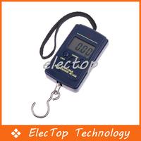 Free shipping 40kg-20g Digital Hanging Balance Pocket Weight Scale 50pcs/lot Wholesale