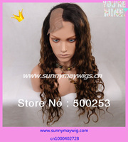 Custom order sunnymay hair Indian virgin hair human hair side parting  u shape full lace wig