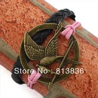 Free Shipping 6pcs/lot Cute Anti Pulsera Gold Ladies'  Bird Bracelet Fashion hunger game bangle Apparel Ornament B00-495