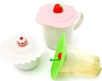 Cherry magic leak-proof lid sealed cup cover cold water covered cup mugs with silicon cover 60g