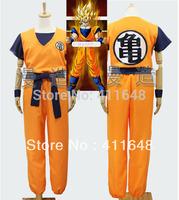 Dragon Ball Z GoKu Letter GUI Cosplay Costume Fancy Party clothing XS S M L XL Top+Pants+Belt+Wrist Band