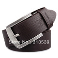 SEPTWOLVES male strap genuine leather cowhide pin buckle strap check fashion men casual belt