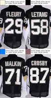 Pittsburgh #87 Sidney Crosby Kids Youth Authentic Home Black Hockey Jersey
