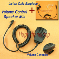 Volume Control Speaker mic for Baofeng UV-5R radio + 3.5mm Listen only earpiece+Free Shipping