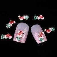 free shipping DIY nail art 3D decoration christmas glitter nails Xmas products 30pcs/bag alloy rhinestone nail sticker