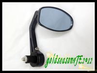 "Freeshipping Motorcycle Rear Side Mirror 7/8""  Bar End Black  for Yamaha   Kawasaki   Suzuki  Honda"