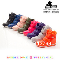 Rubber duck women's girl's snow boots jogging shoes multi-color sport shoes lovely Ladies boots of candy colors