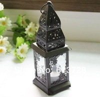 Wholesale and retail unique metal lantern candle holder for wedding decoration , 2pcs/ lot, free shipping