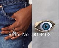 Wholesales 10pcs/1ot Fashion Personality punk wind Eye rings fashion jewelry  punk ornament Free shipping  CRYSTAL Alloy