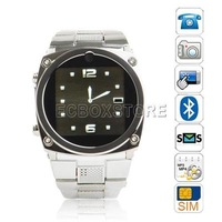 TW818 Stainless Stell 1.6\&quot; Screen Unlock Wrist Watch Phone, Bluetooth, camera