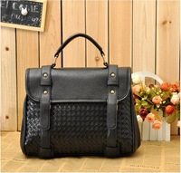 2012 New Design Hot selling Tote Single Shoulder Messenger Bag for Women Black Tartan Pattern
