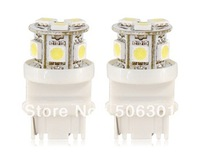 Free shipping + 2PCS 12V 9LED White Car Turn Signal Light (White)