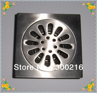 Foshan Bathroom Kitchen Square Floor Drainer Outlet Waste Grate Strainer PY-DR001