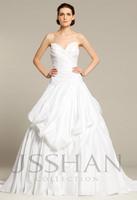 12W013 Strapless Sweetheart Ruched Tiered Taffeta Elegant Gorgeous Brilliant Luxury Unique Ball Gown Wedding Dress Wedding Gown